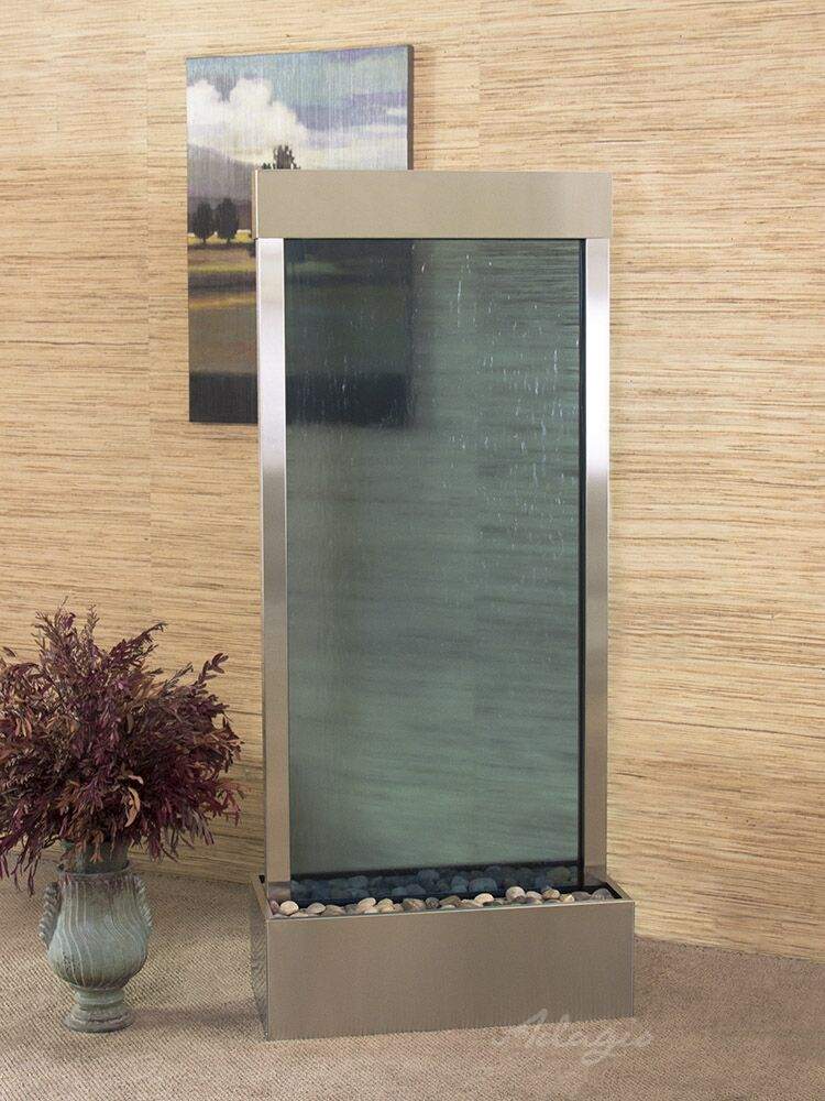 Harmony River Center Mount  Stainless Steel Blue Glass