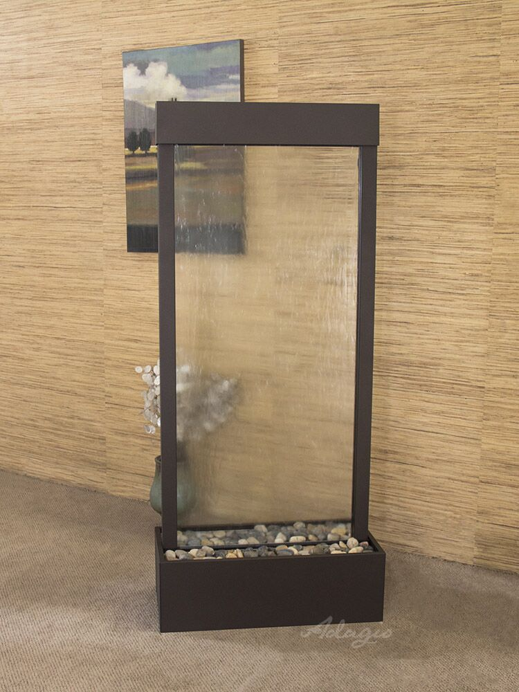 Harmony River Center Mount  Antique Bronze Clear Glass