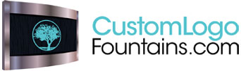 Tranquil River Floor Water Fountain - Custom Logo Fountains - CustomLogoFountains.com